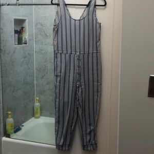 Anthropologie drew linen jumpsuit size small